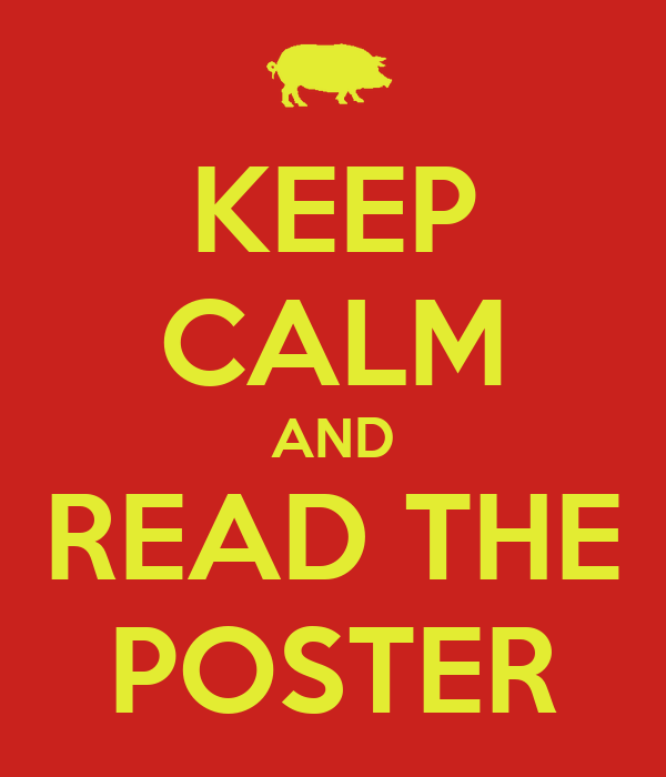 KEEP CALM AND READ THE POSTER