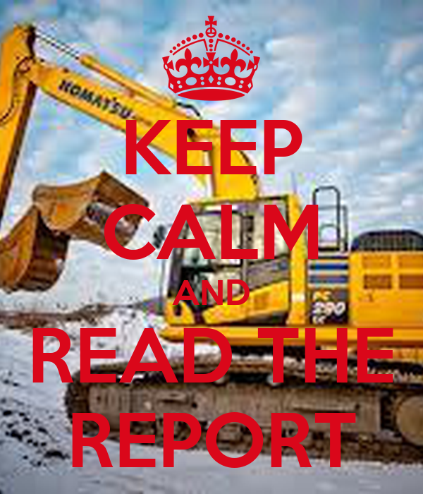 KEEP CALM AND READ THE REPORT
