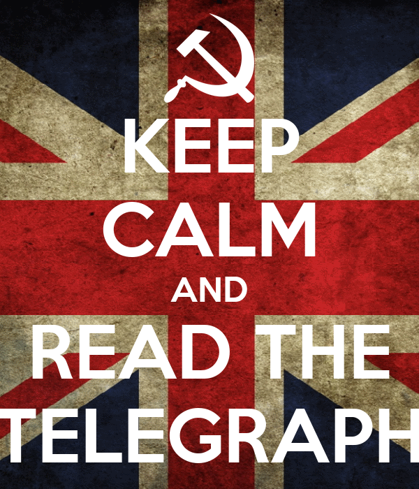 KEEP CALM AND READ THE TELEGRAPH