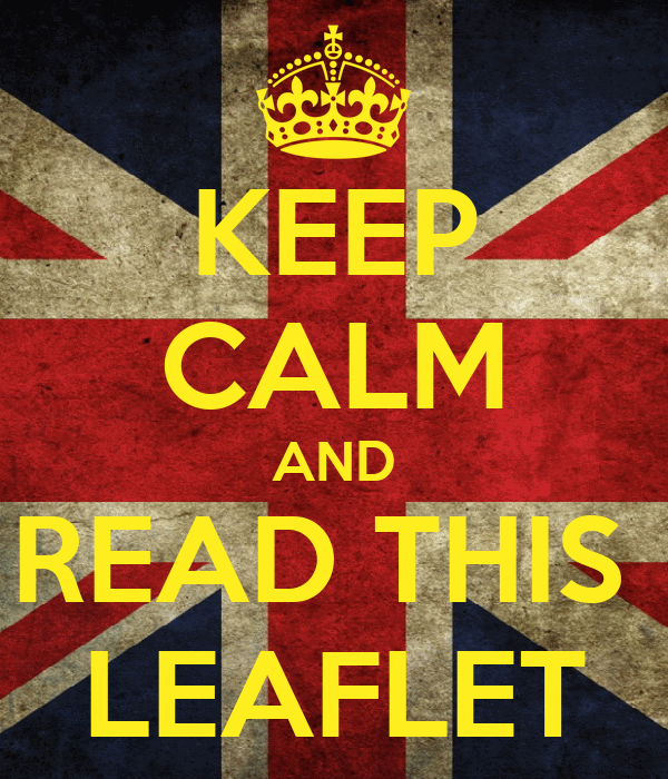 KEEP CALM AND READ THIS  LEAFLET
