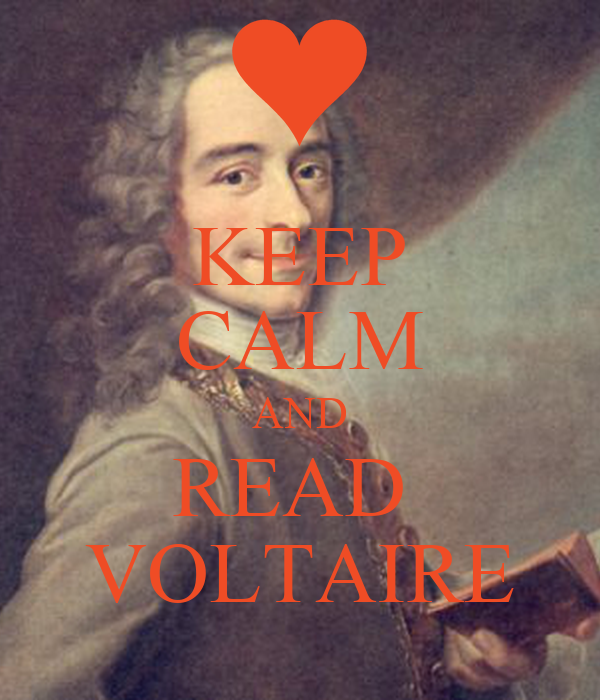 KEEP CALM AND READ  VOLTAIRE