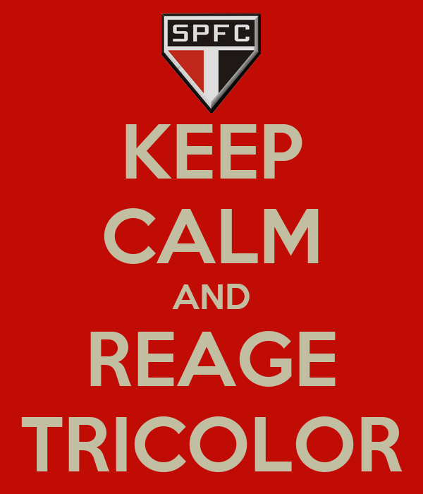 KEEP CALM AND REAGE TRICOLOR