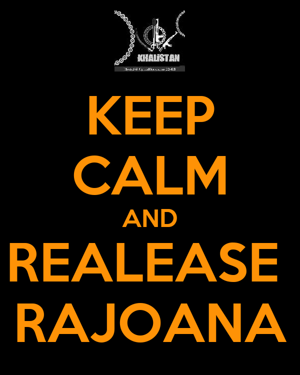 KEEP CALM AND REALEASE  RAJOANA