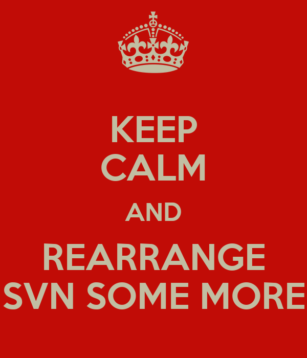KEEP CALM AND REARRANGE SVN SOME MORE