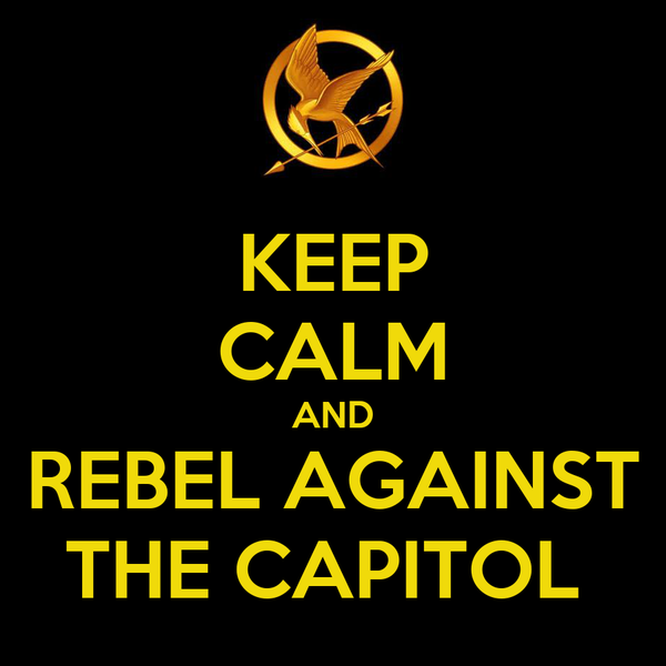 KEEP CALM AND REBEL AGAINST THE CAPITOL