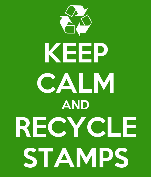 KEEP CALM AND RECYCLE STAMPS