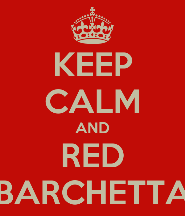 KEEP CALM AND RED BARCHETTA