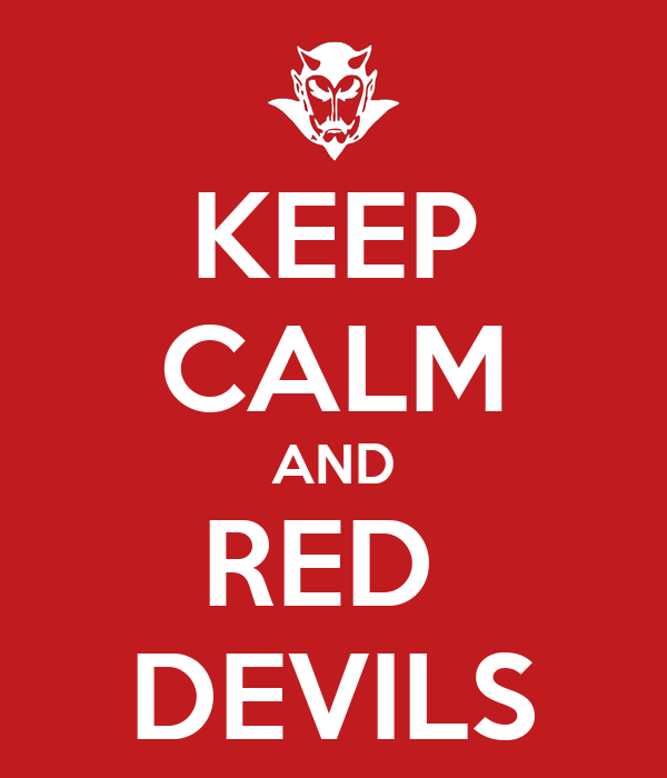 KEEP CALM AND RED  DEVILS