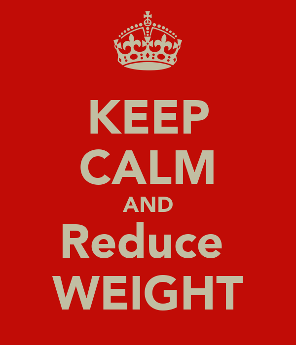 KEEP CALM AND Reduce  WEIGHT