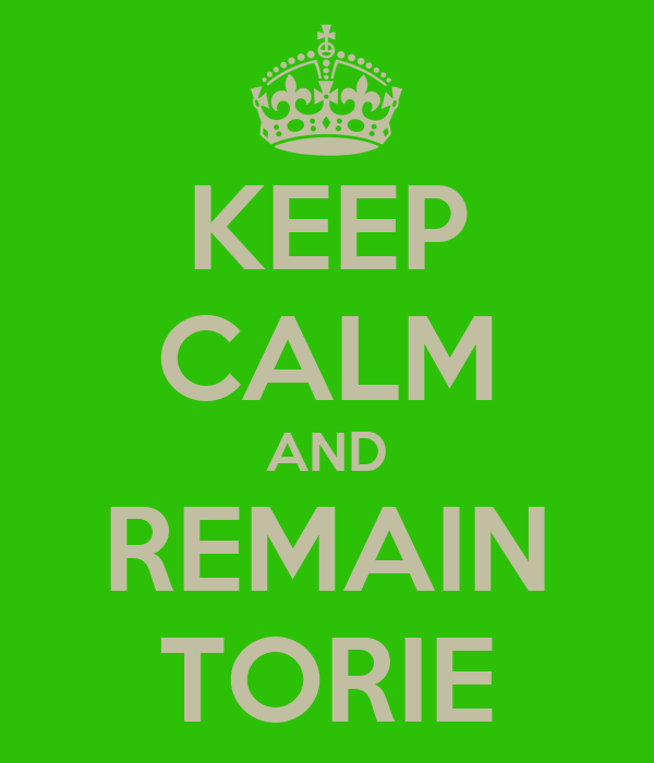 KEEP CALM AND REMAIN TORIE