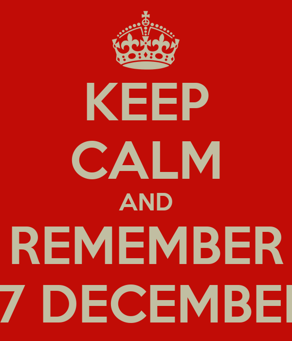 KEEP CALM AND REMEMBER 17 DECEMBER