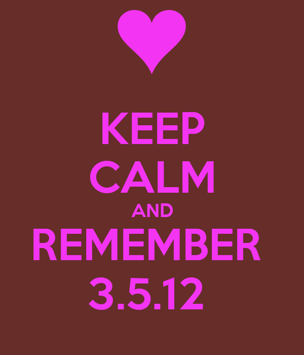 KEEP CALM AND REMEMBER  3.5.12