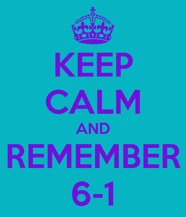 KEEP CALM AND REMEMBER 6-1