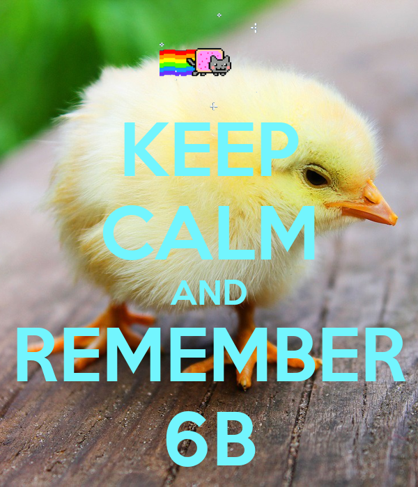 KEEP CALM AND REMEMBER 6B