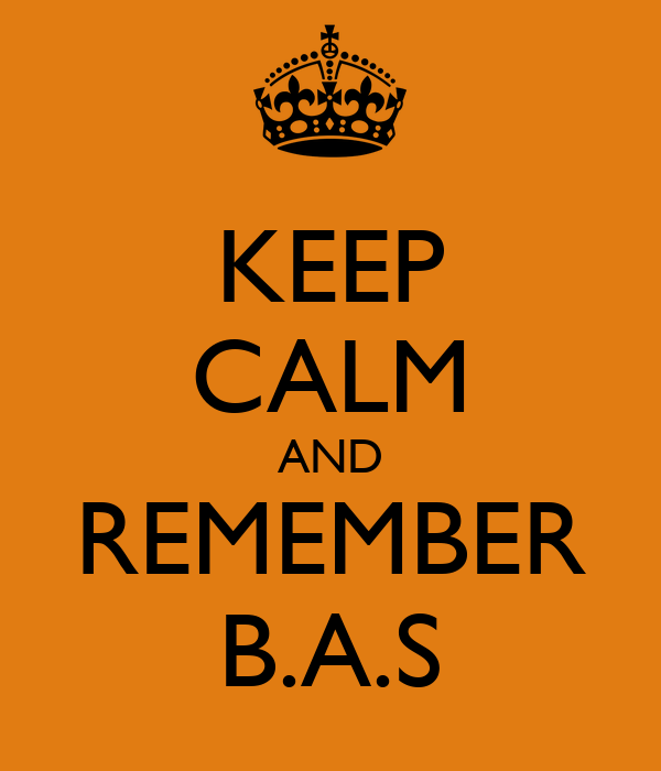 KEEP CALM AND REMEMBER B.A.S