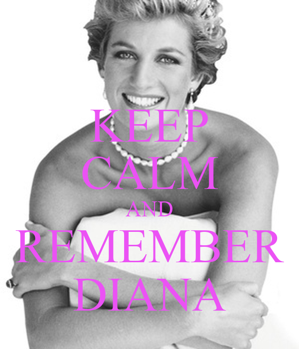 KEEP CALM AND REMEMBER DIANA