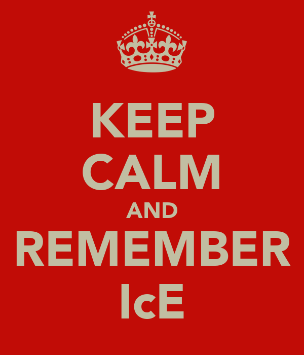 KEEP CALM AND REMEMBER IcE