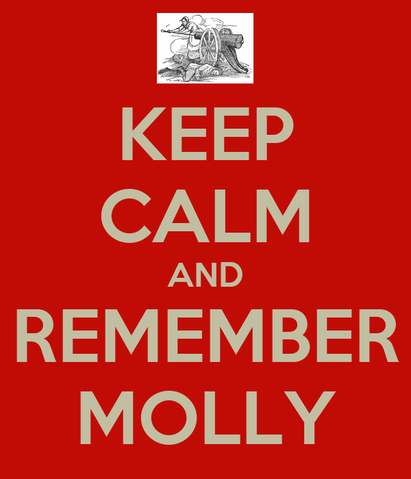 KEEP CALM AND REMEMBER MOLLY