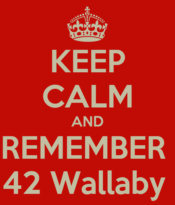 KEEP CALM AND REMEMBER   P. Sherman 42 Wallaby Way Sydney