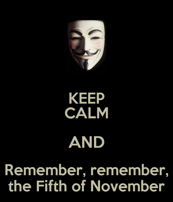 KEEP CALM AND Remember, remember, the Fifth of November