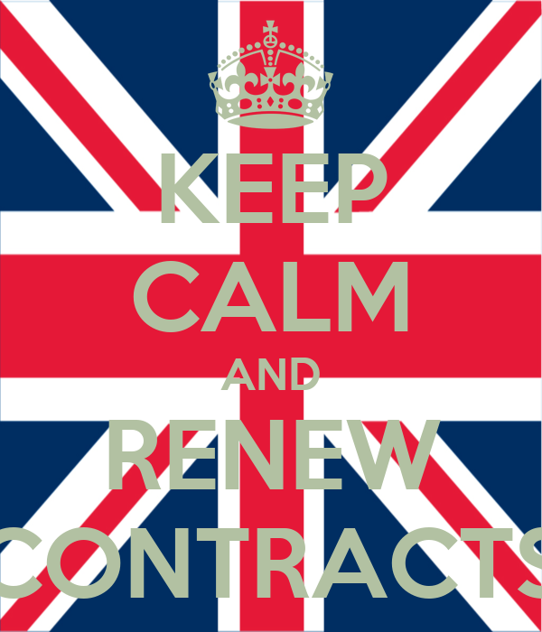 KEEP CALM AND RENEW CONTRACTS