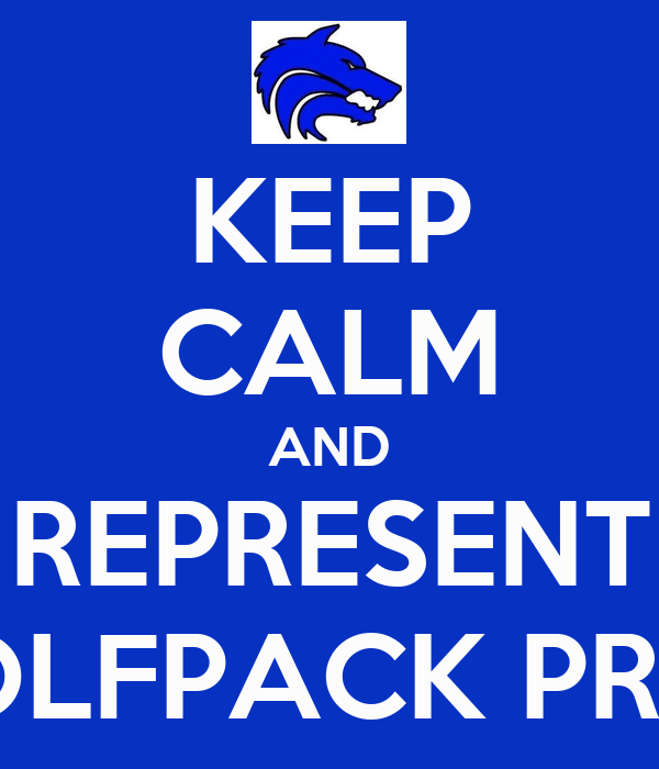 KEEP CALM AND REPRESENT WOLFPACK PRIDE