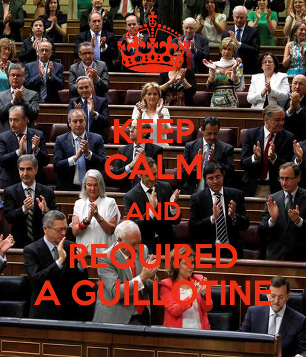 KEEP CALM AND REQUIRED A GUILLOTINE