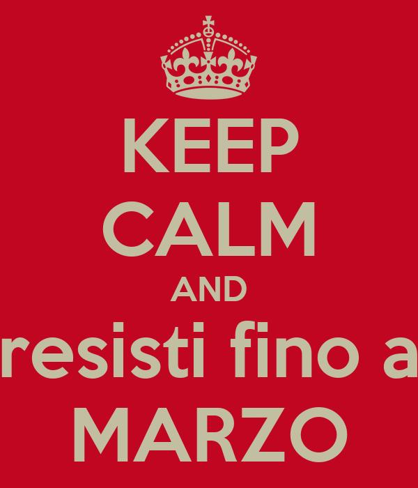 KEEP CALM AND resisti fino a MARZO