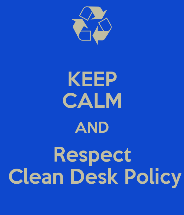 how to keep a clean desk