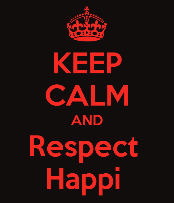 KEEP CALM AND Respect  Happi