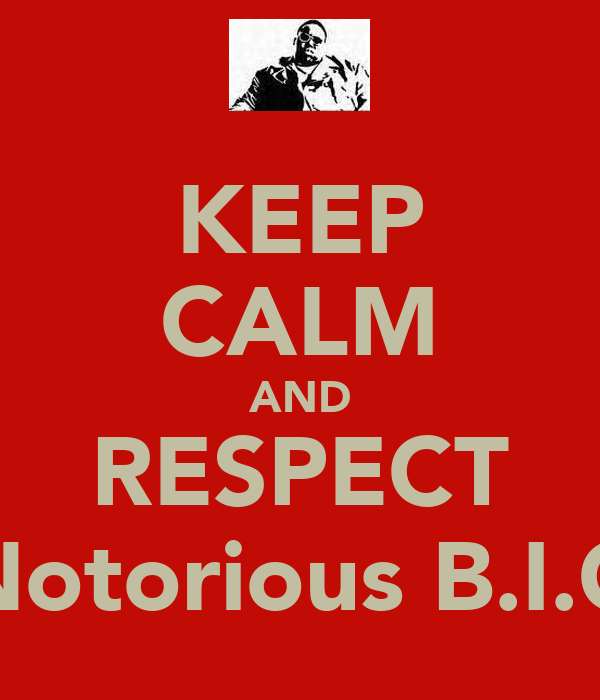 KEEP CALM AND RESPECT Notorious B.I.G