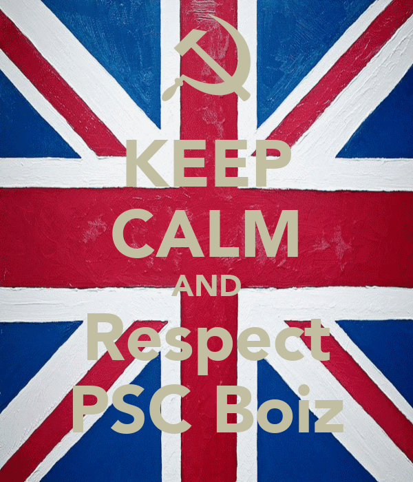 KEEP CALM AND Respect PSC Boiz
