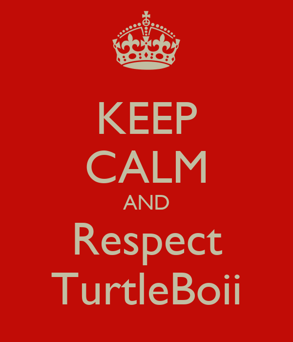 KEEP CALM AND Respect TurtleBoii