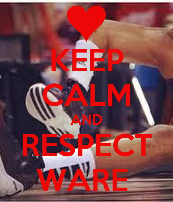 KEEP CALM AND RESPECT WARE