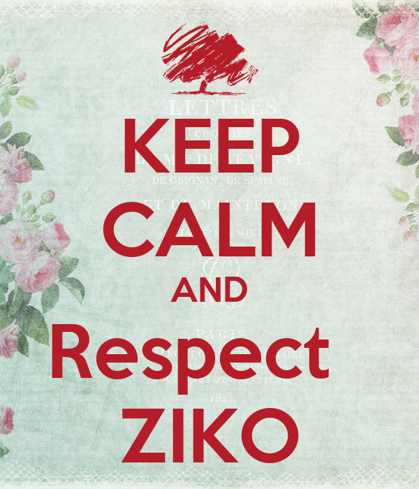 KEEP CALM AND Respect   ZIKO