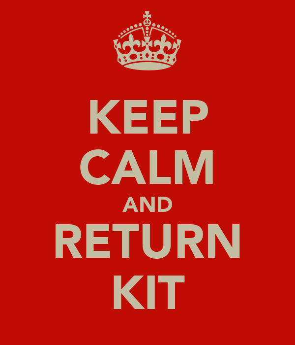 KEEP CALM AND RETURN KIT