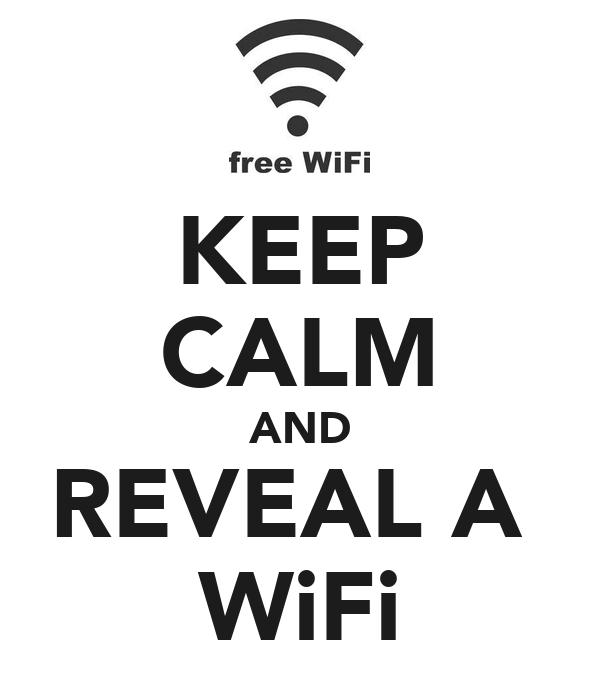 KEEP CALM AND REVEAL A  WiFi