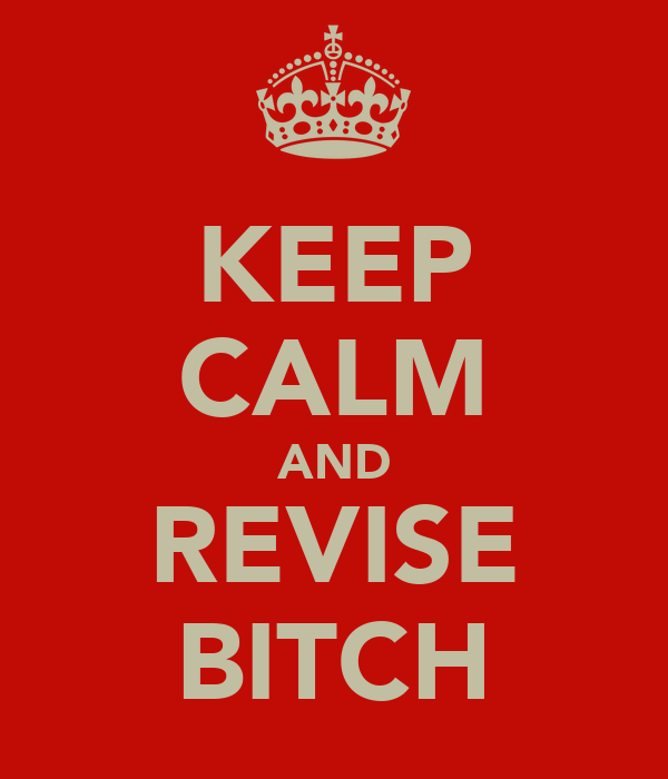 KEEP CALM AND REVISE BITCH