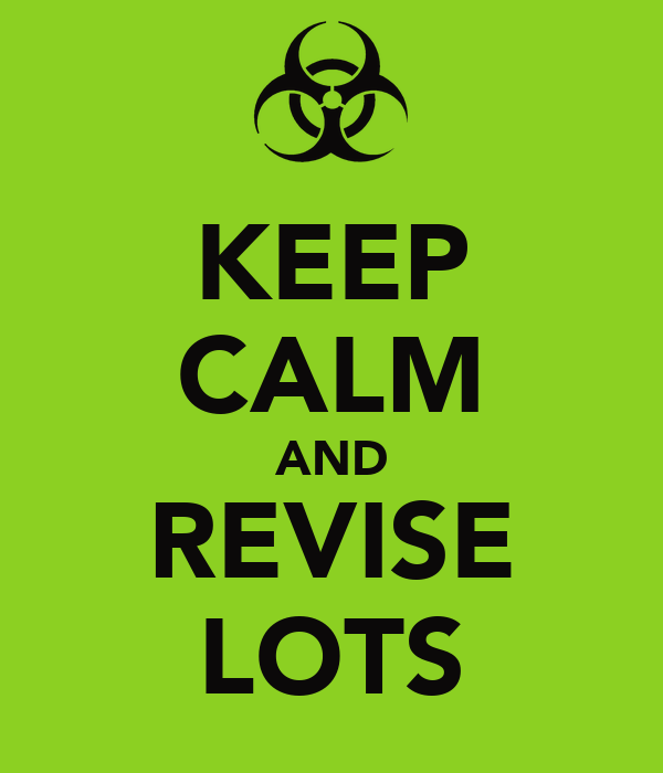 KEEP CALM AND REVISE LOTS
