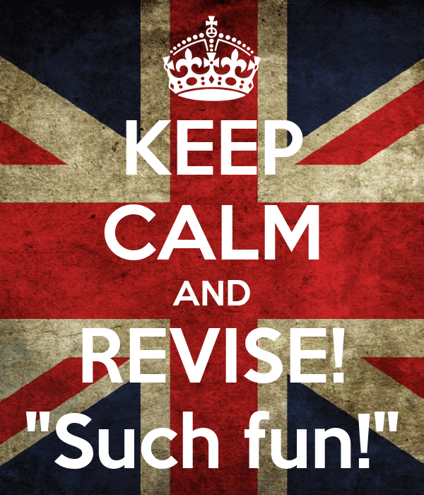 """KEEP CALM AND REVISE! """"Such fun!"""""""