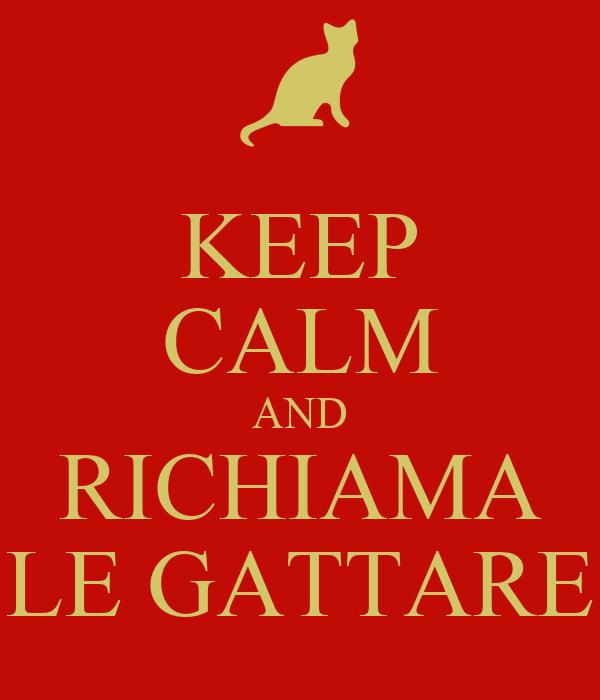 KEEP CALM AND RICHIAMA LE GATTARE