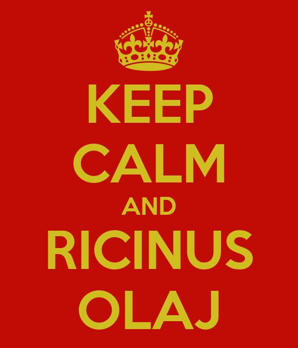 KEEP CALM AND RICINUS OLAJ