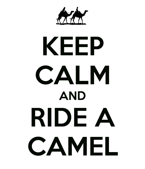 KEEP CALM AND RIDE A CAMEL