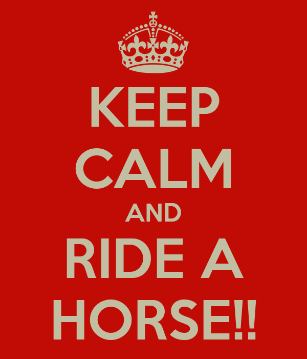 KEEP CALM AND RIDE A HORSE!!