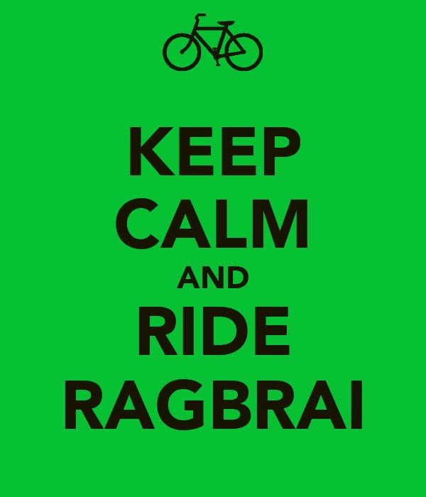 KEEP CALM AND RIDE RAGBRAI