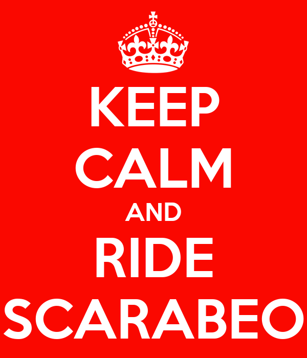 KEEP CALM AND RIDE SCARABEO
