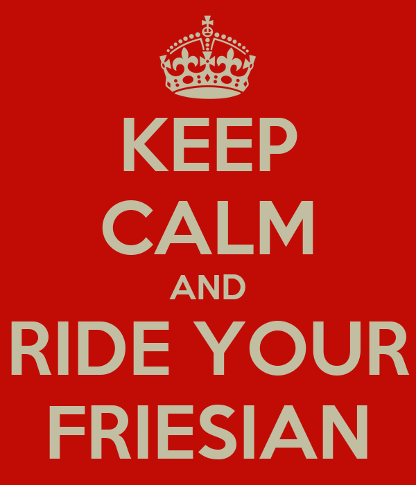 KEEP CALM AND RIDE YOUR FRIESIAN