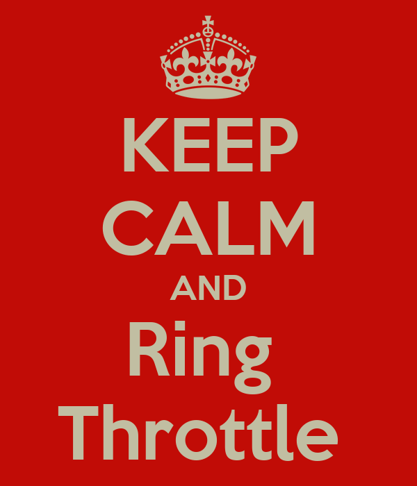 KEEP CALM AND Ring  Throttle