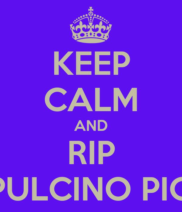 KEEP CALM AND RIP PULCINO PIO