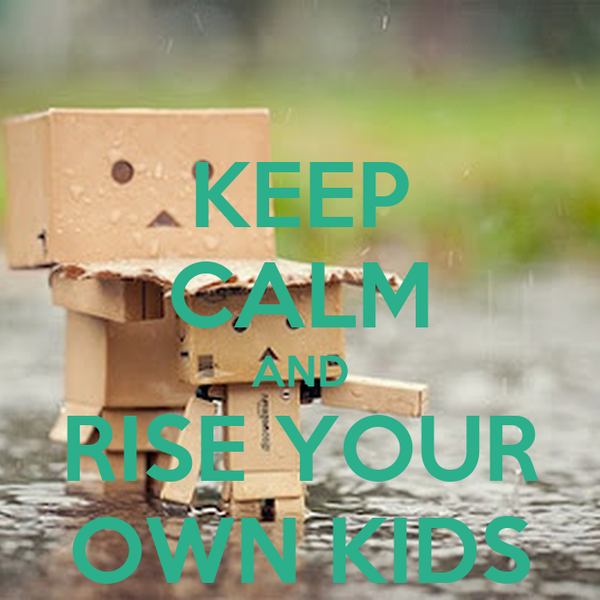 KEEP CALM AND RISE YOUR OWN KIDS